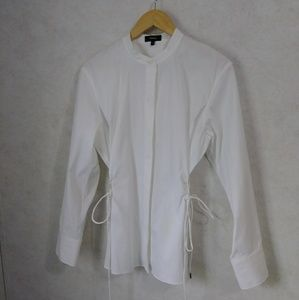 Theory Tops - Theory Stretch Cotton Side Tie Shirt sz M
